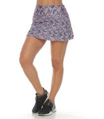 falda deportiva con licra interior, color gris oscuro para mujer