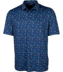 cutter & buck men's pike daub print polo shirt