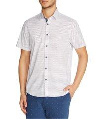 tallia men's slim-fit mini-star shirt