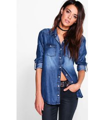 supersoft denim shirt, indigo