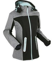 giacca in softshell con dettagli riflettenti (nero) - bpc bonprix collection