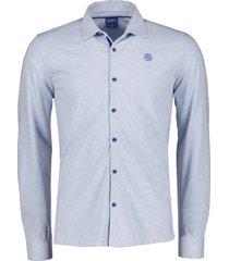 qubz overhemd - modern fit - blauw