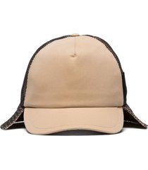 burberry trucker flap hat - brown