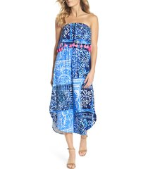 women's lilly pulitzer meridian strapless midi dress