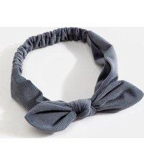penelope velvet corduroy hair bow - navy