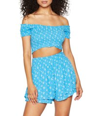 bcbgeneration smocked shorts