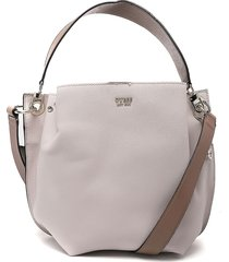 bolso rosa-gris guess