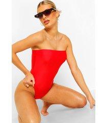 essentials strapless badpak, rood