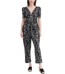calvin klein floral-print jumpsuit