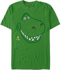 disney pixar men's toy story rex big face costume short sleeve t-shirt