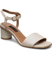oda, 884 glitter shoes sandal med klack beige stine goya
