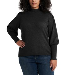 1.state trendy plus size balloon-sleeve sweater