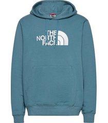 m drew peak plv hd hoodie trui blauw the north face