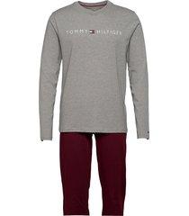 cn ls pants jersey set pyjamas multi/mönstrad tommy hilfiger