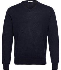 m. merino v-neck sweater gebreide trui v-hals blauw filippa k