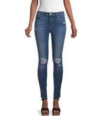 joe's jeans women's the curvy mid-rise skinny ankle jeans - blue - size 28 (4-6)