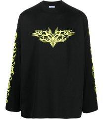 vetements logo-print cotton sweatshirt
