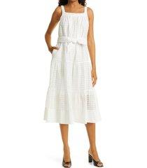 women's tanya taylor savannah a-line dress, size x-small - white