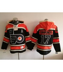 philadelphia flyers 17 wayne simmonds hockey pullover stadium hoodie jersey