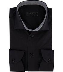 overhemd jonh miller tailored fit zwart