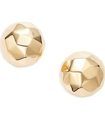 14k yellow gold bauble stud earrings