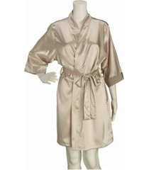 lillian rose champagne satin maid of honor robe s/m
