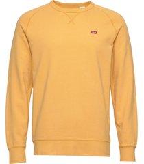 original hm icon crew golden a sweat-shirt trui geel levi´s men