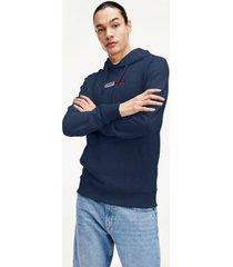 tommy hilfiger men's embroidered hoodie twilight navy - xxl