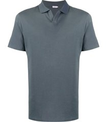 filippa k m lycra polo t-shirt - blue
