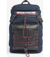 tommy hilfiger men's bungee wrap backpack navy/corporate stripe -