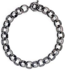 federica tosi rolo chain bracelet - grey