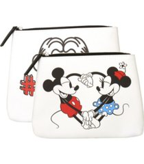 mickey & minnie travel pouch set of 2