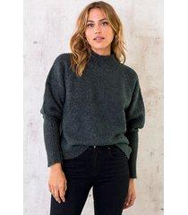 lurex sweater dark army