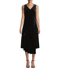 ashlena velvet a-line dress