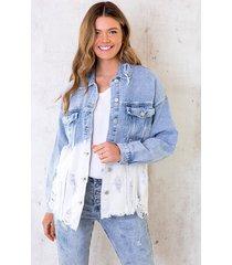 denim jacket ombre bleached