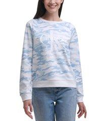 calvin klein jeans camo-print logo top