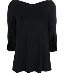 talbot runhof sleeveless shift top - black