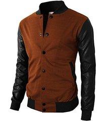 mens baseball bomber jacket casual slim fit long sleeves zippered sports fashion