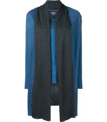 majestic filatures layered shawl top - blue