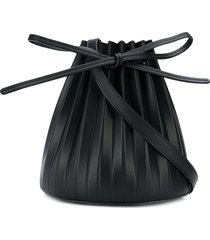 mansur gavriel mini pleated bucket bag - black