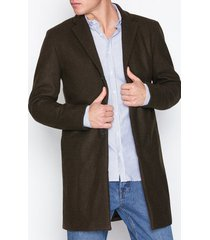 selected homme slhbrove wool coat b jackor mörk brun