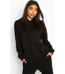 basic soft mix & match oversized hoodie, black