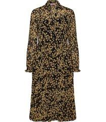 tjw printed midi shirt dress knälång klänning brun tommy jeans