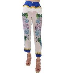 hydrangea hortensia hoge taille zijden broek