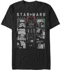star wars men's classic dark side villain panels short sleeve t-shirt