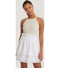 na-kd boho kjol - white