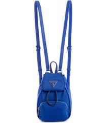 mochila little bay mini backpack blu azul guess