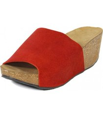 sandalia  brillo rojo nara