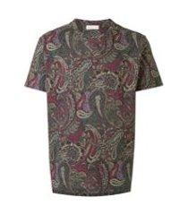 etro camiseta de algodão com estampa paisley - estampado