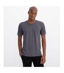 camiseta manga curta lisa em algodão | ripping | cinza | p